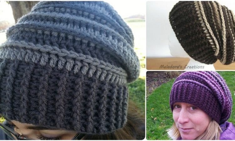 12caf91bb33 Riptide Slouch Hat  Free Crochet Pattern