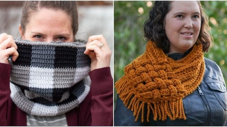 Cozy Oversized Crochet Cowl with free patterns
