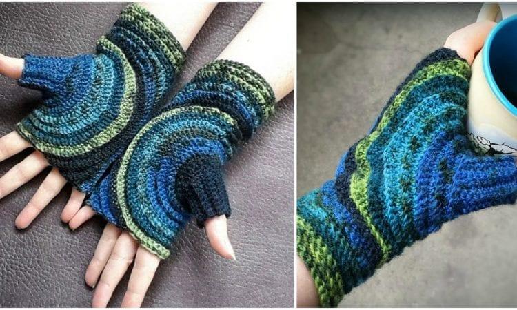 Kreisel Fingerless Gloves Free Crochet Pattern Your Crochet