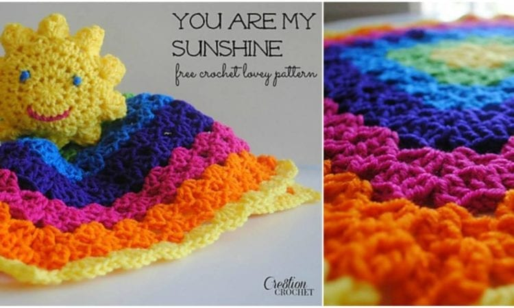 Easy rainbow crochet baby blanket with free pattern