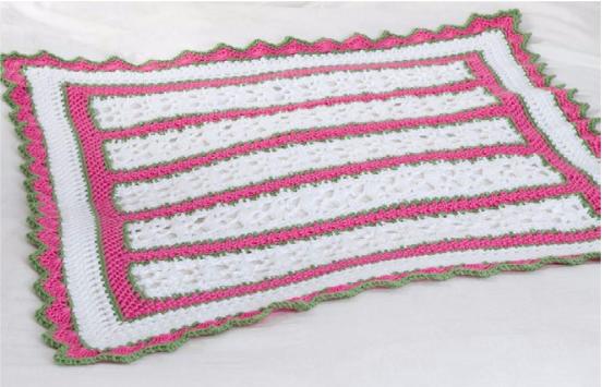 Crochet Pattern For Summer Baby Blanket : Summer Baby Blanket [Crochet Pattern]
