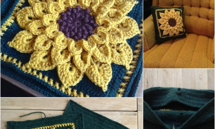 Pillow And A Squared Circle Crochet Sunflower Your Crochet