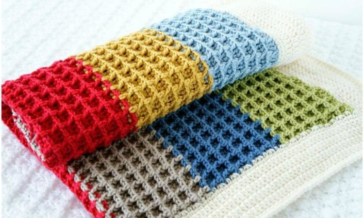 How To Crochet The Waffle Stitch To Blanket Your Crochet