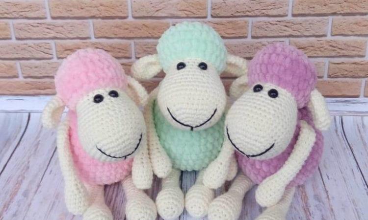 9dd902db5c12 Sheep Toys Plush Amigurumi  Free Pattern