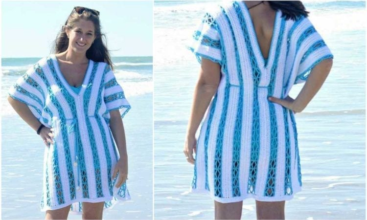 On The Beach Sunny Day Cover Up Tunic Free Crochet Pattern