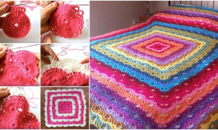 photograph relating to Virus Blanket Pattern Free Printable identified as Virus Blanket Cost-free Crochet Manual Your Crochet