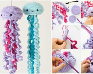 Amigurumi Jellyfish : Ravelry baby jellyfish amigurumi pattern by holly faith salzman