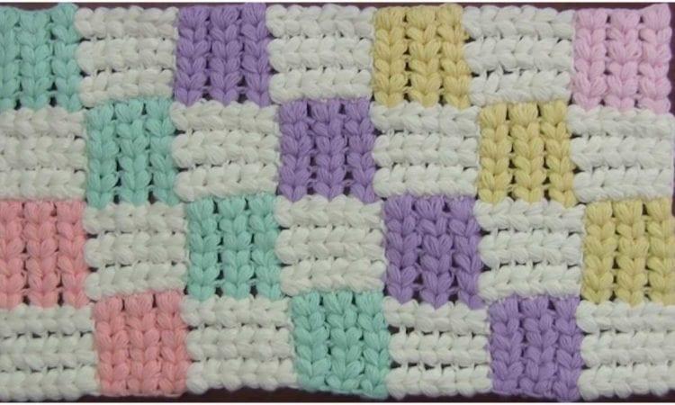Entrelac Crochet Stitch Easy Tutorial Step By Step Your Crochet