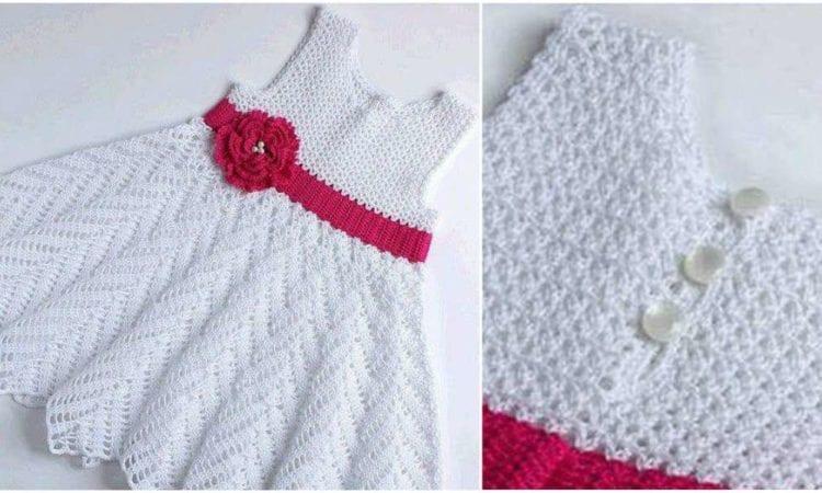 Baby Girl Crochet Dress Free Diagram Pattern Your Crochet
