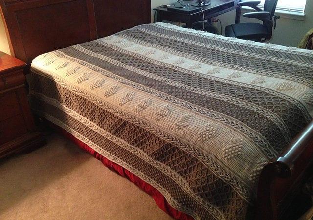 Aran Hearts Afghan Free Crochet Pattern Your Crochet