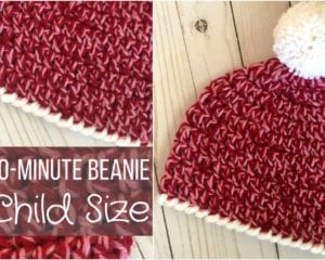 Child Size Easy 30-Minute Beanie Free Crochet Pattern 95c4c5986e5