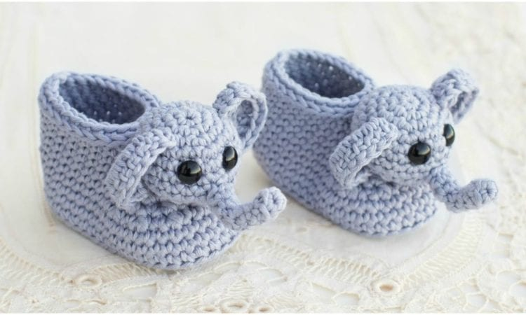 Ellie The Elephant Baby Booties Free Crochet Pattern Your Crochet