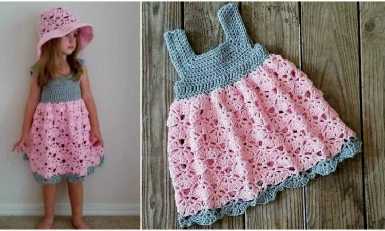 Falling Fans Dress And Sun Hat Free Crochet Pattern Your Crochet