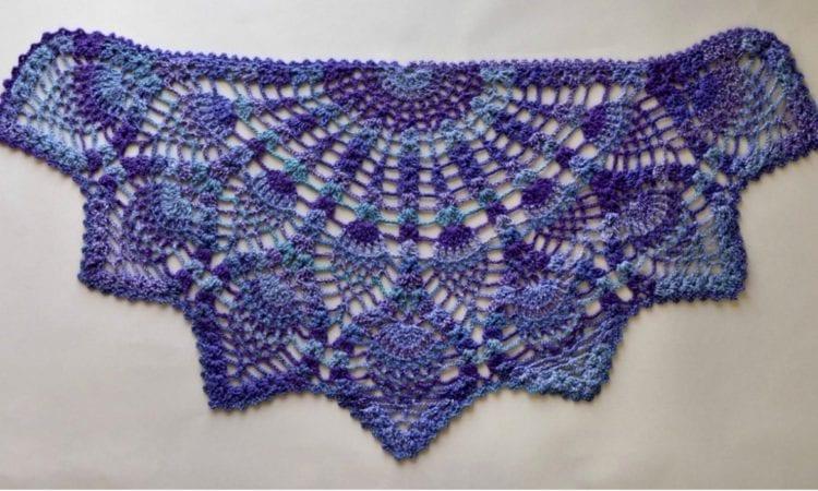 Pineapple Peacock Shawl Free Crochet Pattern Your Crochet