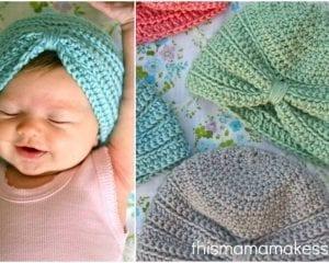 Crochet Baby Turban  Free Pattern and Video Tutorials   0ecdff24c3a