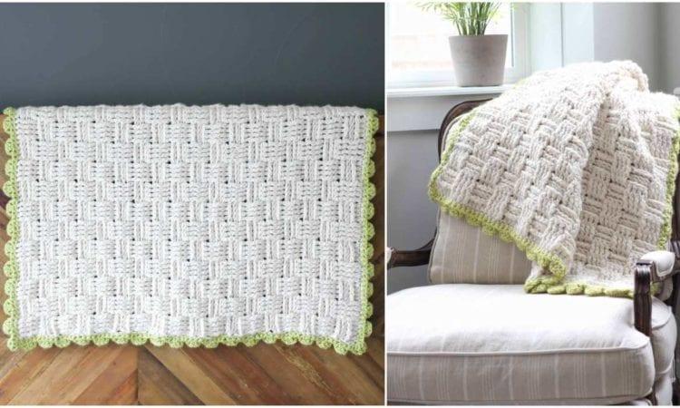 Lineage Basket Weave Blanket Free Crochet Pattern Your Crochet