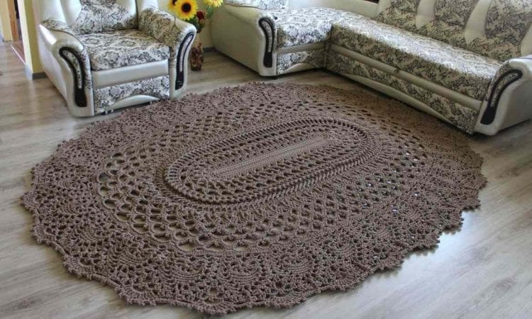 A Beaut Oval Rug Free Crochet Pattern And Video Tutorial