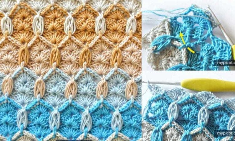 Honeycomb And Shells Stitch Free Crochet Pattern And Tutorial Your