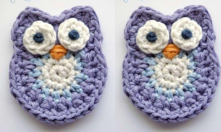 Owl Applique Free Crochet Pattern Your Crochet