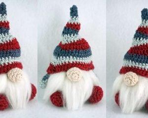 Easy Christmas Gnome Free Crochet Pattern