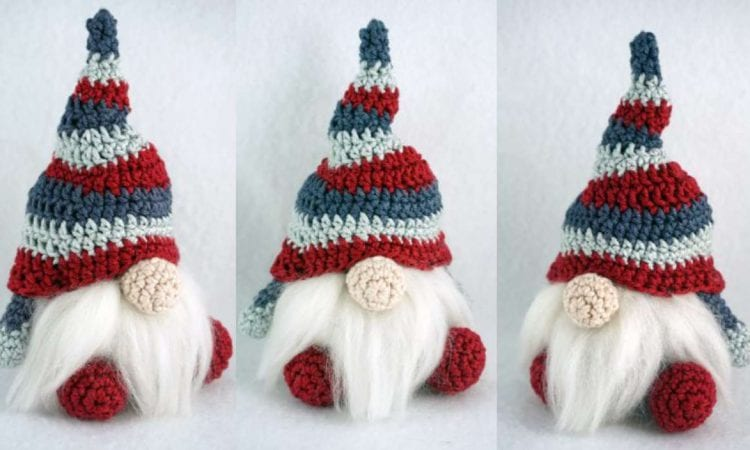 Easy Christmas Gnome Free Crochet Pattern