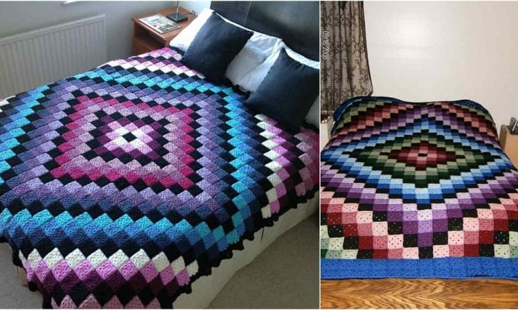 Around The World Granny Square Blanket Free Crochet Pattern Your