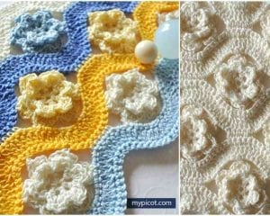 Flower Wave Stitch Free Pattern