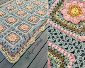 Song of the Forrest Blanket Throw Free Pattern