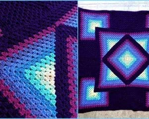 Ocean Glow Granny Throw Pattern