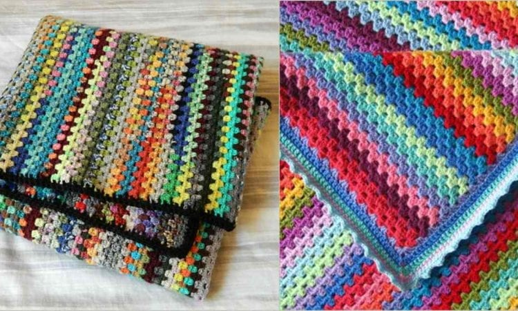 Granny Stripe Blanket Free Crochet Pattern Your Crochet
