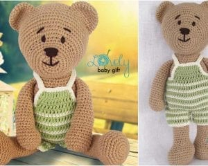 This amigurumi teddy bear will be loved by anyone who gets one. Crochet it for a gift!