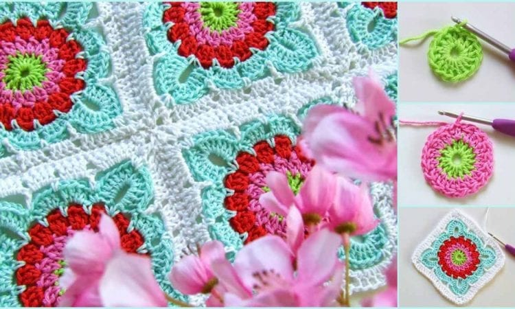 This beautiful granny with flower motif is a pattern for everyone