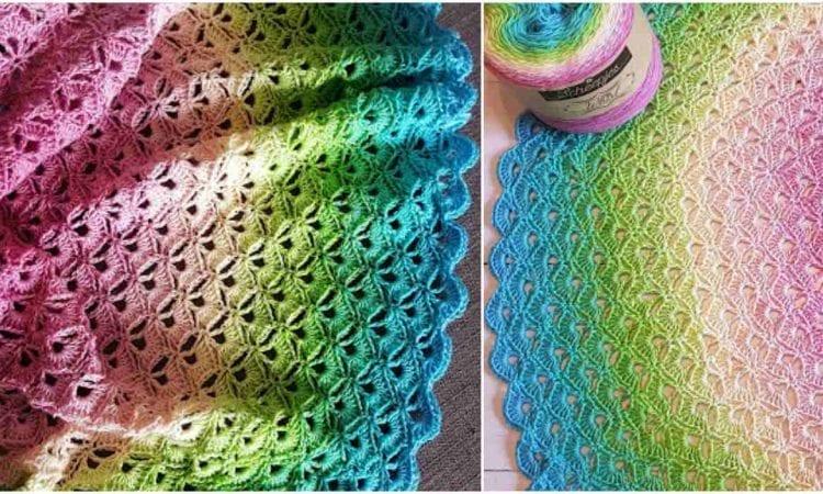 Lotus Flower Baby Blanket Free Crochet Patternlotus Flower Baby