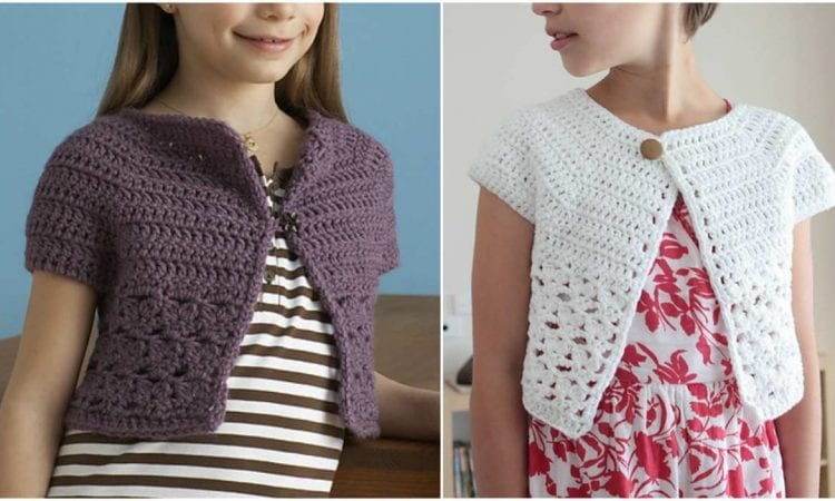 Urban Girl Cropped Cardi Free Crochet Pattern