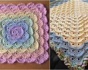 Fluffy Meringue Stitch Blanket Free Pattern