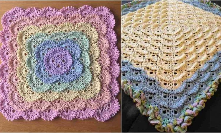Fluffy Meringue Stitch Blanket Free Pattern