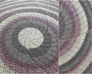 Spin Me Around Throw Free Crochet Pattern