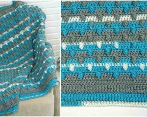 Bunches of Bobbles Baby Blanket Free Pattern