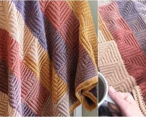 Continous Mittered Square Blanket