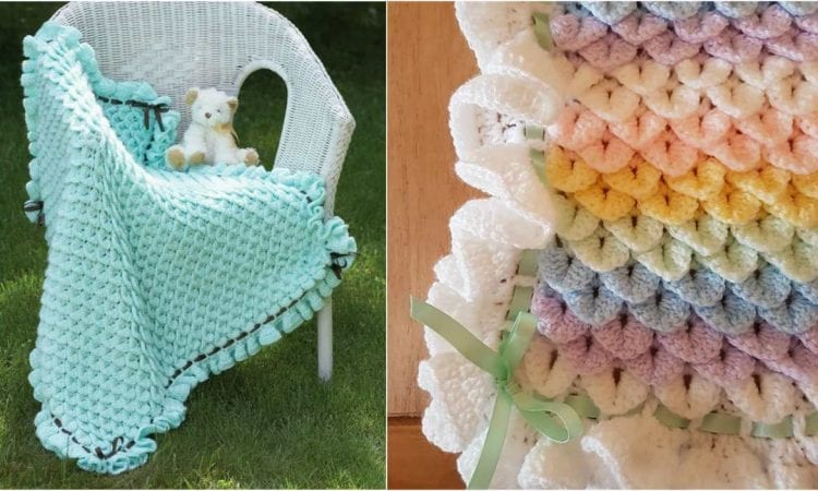 Crocodile Stitch Baby Blanket Free Pattern