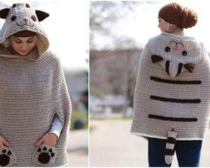 Kitty Cat Poncho Free Pattern