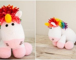 Rainbow Cuddle Unicorn Amigurumi Free Pattern