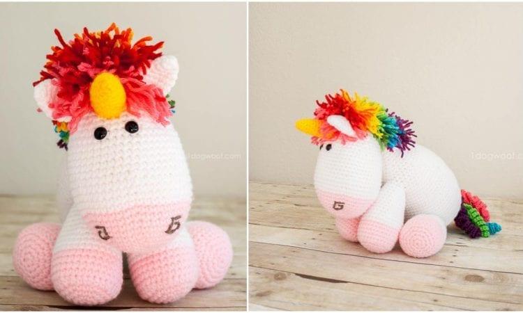 Rainbow Cuddle Unicorn Amigurumi Free Pattern