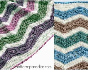 Dragonfly Chevron Blanket Free Crochet Pattern