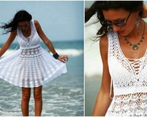 Summer White Dress Free Crochet Pattern
