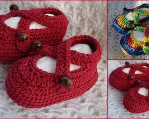 Baby Rainbow Sandals Booties Free Crochet Pattern