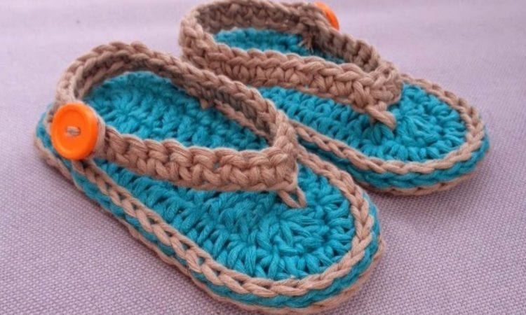 Chubby Baby Flip-Flop Sandals Free Pattern