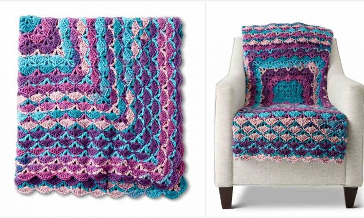 From the Middle Blanket Free Crochet Pattern