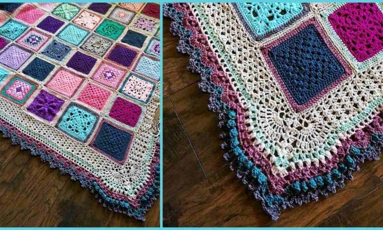 Vibrant Vintage Blanket Border Free Crochet Pattern