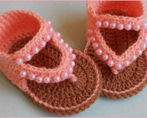 Baby Sandals Free Crochet Pattern and Video Tutorial